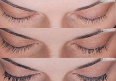 Lash extensions - Photo before